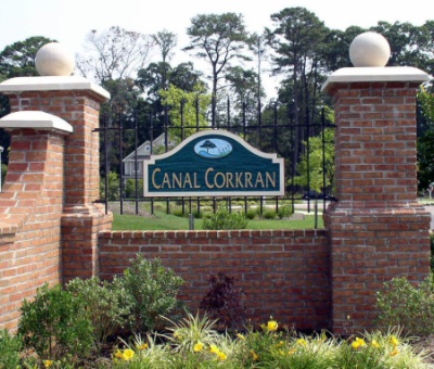 Canal Corkran Gate Front View